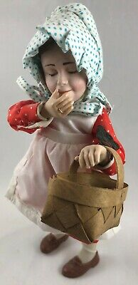 $24.88 • Buy Anne & Basket Norman Rockwell Porcelain Character Doll Rumble Seat 1980 Germany