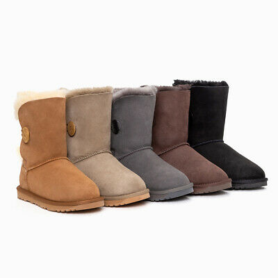 AU94 • Buy Ozwear Ugg Classic Short Button Boots (water Resistant) 4 Colours Ob363