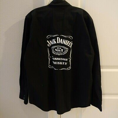 $25 • Buy Jack Daniels Pearl Snap Button Up Western Long Sleeves Shirt Large