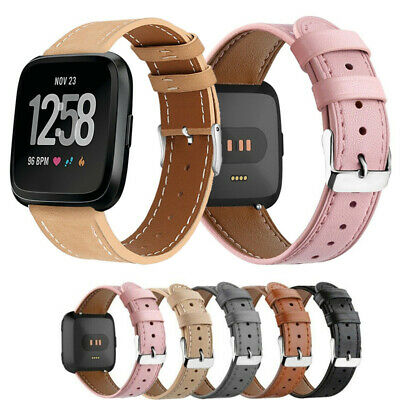 $ CDN11.79 • Buy Genuine Leather Replace Band For Fitbit Versa/Fitbit Versa 2/Fitbit Versa Lite