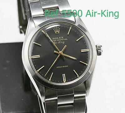 $ CDN2026.89 • Buy 1980 ROLEX AIR-KING Precision OYSTER PERPETUAL Ref 5500 STAINLESS STEEL