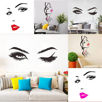 £3.61 • Buy Lashes & Brows Quote Art Decals Wall Stickers Vinyl For Home Room Beauty Salon