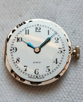 Uno 15J Trench Watch Wristwatch Movement. (FULL WORKING ORDER)  • 28£