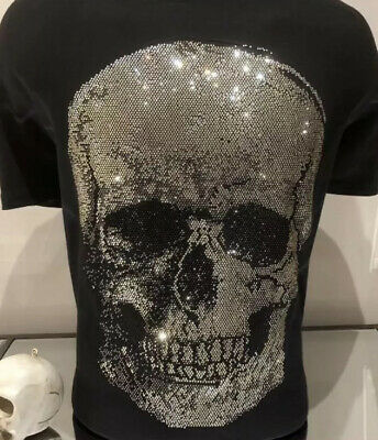 Skull Hotfix Rhinestone Iron-On T Shirt Hoodie Patch Transfer Only SEE VIDEO  • 18£