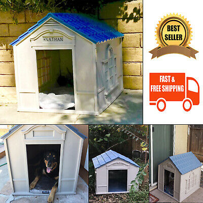 $118.34 • Buy Dog House Extra Large Breed Outside Weatherproof Outdoor Indoor Durable Home New