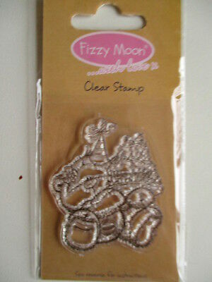 Fizzy Moon Clear Stamps - Teddy Bear With Party Hat And Cakes - FZCS016 Birthday • 0.99£