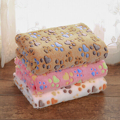 AU21.62 • Buy Soft Warm Pet Fleece Blanket Bed Mat Pad Cover Cushion For Dog Cat
