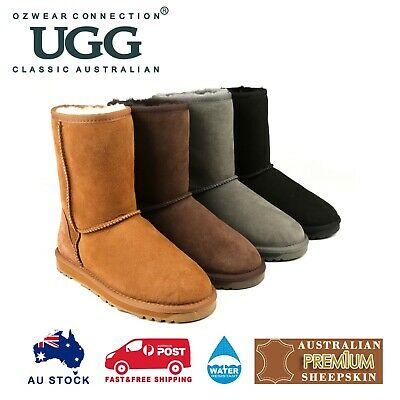 AU85 • Buy Ozwear Ugg Mens Classic 3/4 Short Boot (water Resistant) 4 Colours Ob385