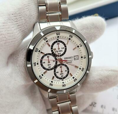 $ CDN240 • Buy SEIKO Chronograph 100M,4T57-00H0,10 Bar, White Face MEN'S WATCH BIN,L@@K!