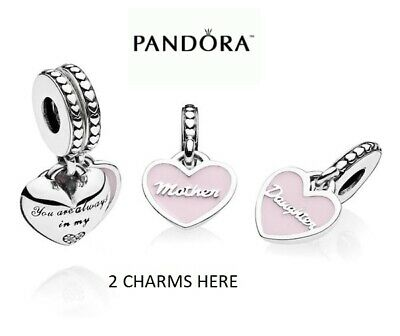 New Genuine Pandora Mother & Daughter Always There Heart Dangle Charm 792072en40 • 20.99£