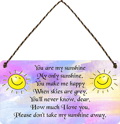 You Are My SUNSHINE Wooden Sign Garden Retro Novelty Wooden Gardening Plaque • 5.99£