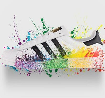 $ CDN92.78 • Buy Men's Adidas Superstar Pride Pack Paint Rainbow Shoes