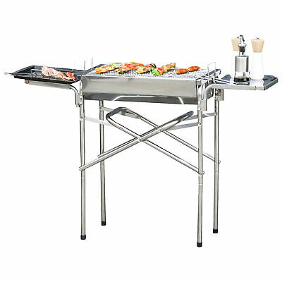 $ CDN84.99 • Buy Outdoor BBQ Grill Portable Kebab Barbecue Charcoal Stainless Steel Smoker Camp