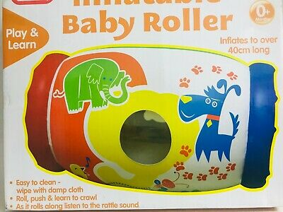 A To Z Inflatable Roller Baby Toy With Rattling Sounds Animals Design 40cm NEW • 9.99£