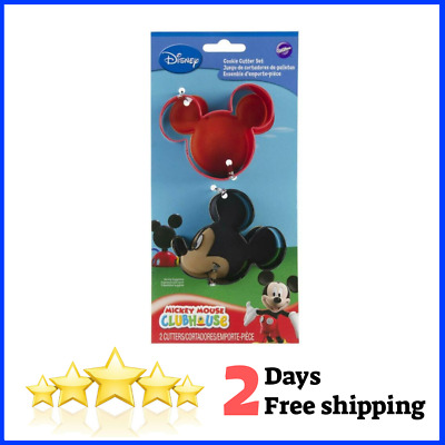 Mickey Cookie Wilton Mickey Mouse Cookie Cutter Set 2 Shaped Cutters • 3.34£