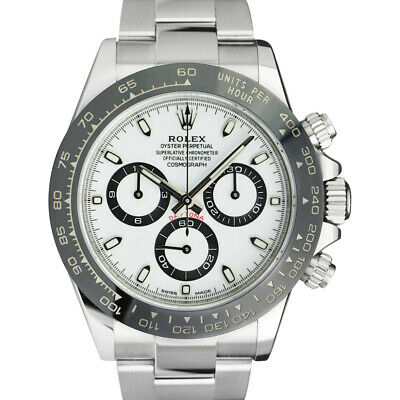 $ CDN36590 • Buy ROLEX 40mm Stainless DAYTONA White Dial CERAMIC Bezel 116500 LN SANT BLANC