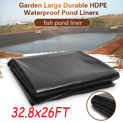 10Mx8M Durable Fish Pond Liner Garden Pools HDPE Membrane Reinforced Landscaping • 53.99£