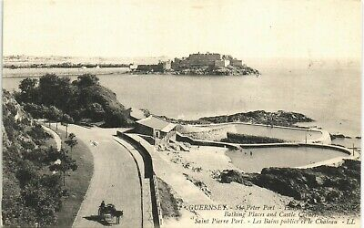 Guernsey. St Peter Port. Bathing Places # 32 By LL/Levy. Black & White. • 10£