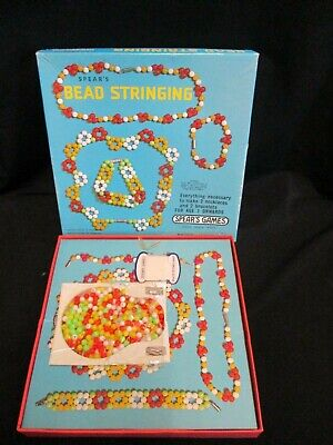 Fab! Vintage 1970's SPEARS GAMES 'Bead Stringing' - A2 • 7£