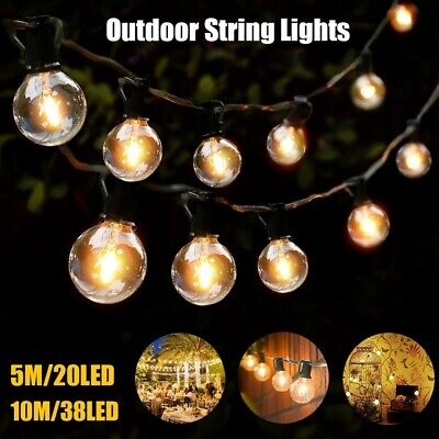 Led Fairy String Lights 5m/10m Outdoor Wedding Party Festoon Globe Home Decorate • 7.95£