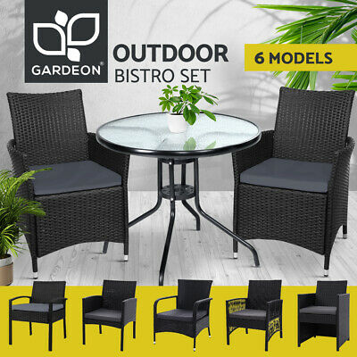 AU266.95 • Buy Gardeon Patio Furniture Outdoor Dining Chairs Table Bistro Set Wicker Setting