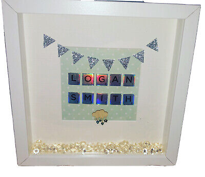 Personalised Family Scrabble, Picture Frames, Perfect Gift 🎁 Christmas Gift🎄 • 16£