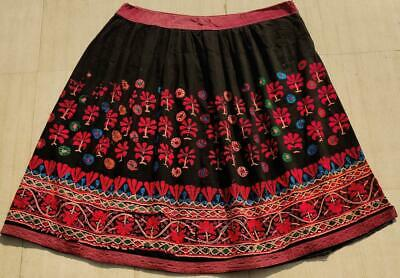 Boho Old Indian  Kuchi Banjara Collectible Tribal Ethnic Embroidered Skirt • 5.21£