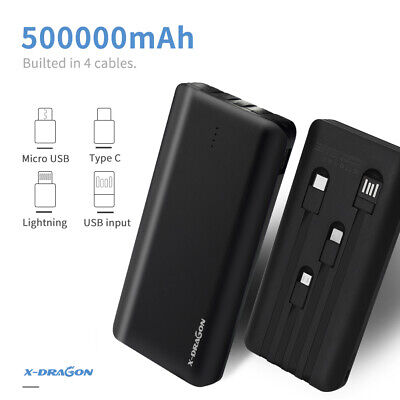 View Details Portable 500000mAh External Power Bank Pack USB Battery Charger For Mobile Phone • 21.99£