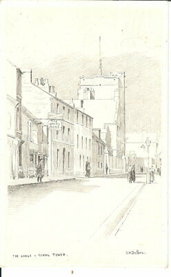 The Lodge, School Tower, Uppingham - Posted 1969 - Julius Delbos Sketch • 22.25£
