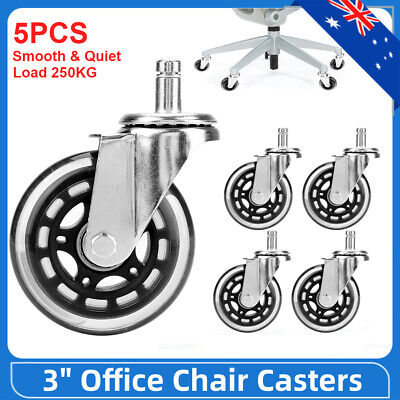 AU32.49 • Buy 5X Rollerblade Office Chair Wheels PU Galvanizing Replacement Rolling Circlip AU