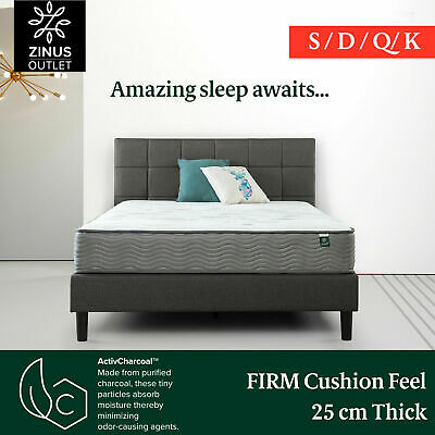 AU270 • Buy Zinus Pocket Spring Mattress Queen Double King Single Foam Edge Support Firm Bed