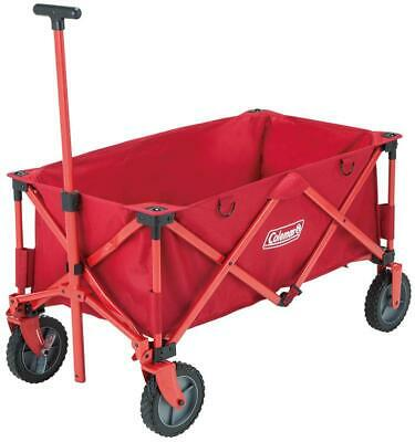 £69.94 • Buy Coleman Outdoor Red 85KG Capacity Folding Carry Wagon Trolley Camping Festival