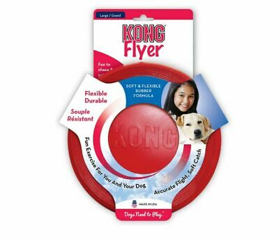£9.60 • Buy KONG Flyer Frisbee Dog Toy LARGE Red Durable Rubber Soft On Gum Chase Fetch 23cm