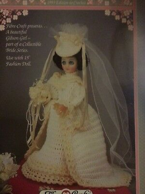 **Crochet Pattern**Dolls Bridal/Wedding Dress With Train** • 1.49£