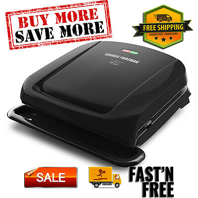 4-Serving Removable Plate Grill And Panini Press, Black, GRP1060B Easy Clean • 32.19£