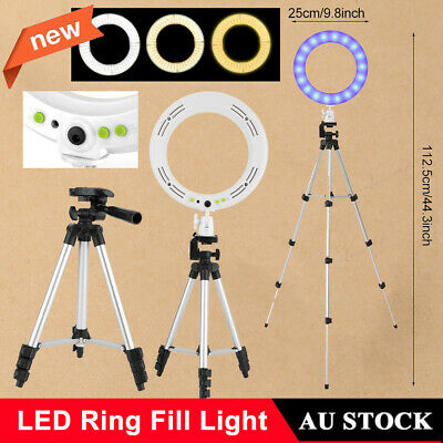 AU31.99 • Buy 10  LED Ring Fill Light Dimmable With Tripod Kit For Video Live Makeup We