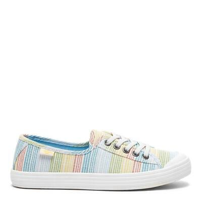 £22 • Buy Rocket Dog Women's Chow Chow Ravi Stripe Cotton Canvas Lace Up Trainer
