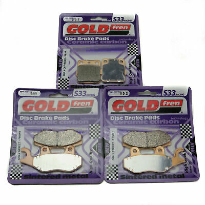 Goldfren S33 Brake Pads Front & Rear For Yamaha YFZ 450 S/T/R (Quad) 2004-2005 • 35.85£