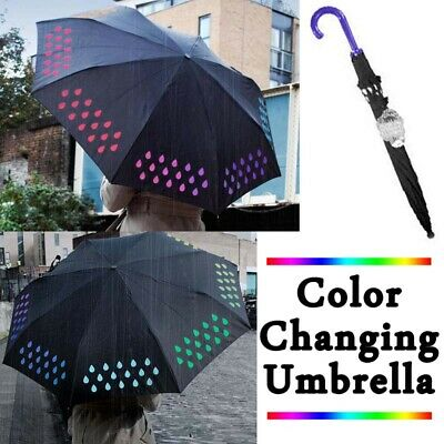 AU14.89 • Buy Colour Changing Umbrella Color Assorted Design Weather Proof Rain Travel Ready