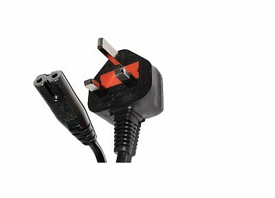 1m Power Cord UK 3 Pin Plug To C7 Figure 8 Power Lead Fig 8 Power Cable TV Mains • 3.95£