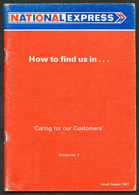 ZD1749 National Express Guide To Coach Stop Locations Aug 1987 Edition No1 • 3£