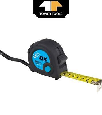 Ox Tools T020608 8M Tape Measure Metric Measuring Pocket Thumb Lock - OX-T020608 • 5.69£