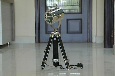 Black Wooden Table Tripod LED Lamp Nautical Home Decor Collection • 62.22£