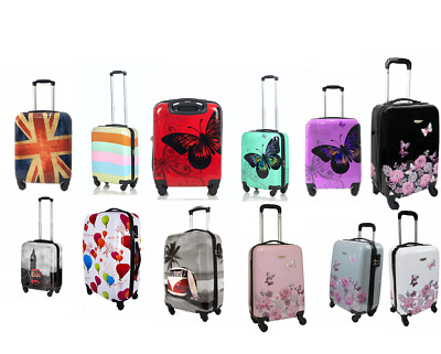 Hard Shell Suitcase Case Trolley Travel Light Hand Cabin Case 4 Wheel Luggage  • 28.50£