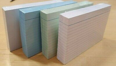 £3.99 • Buy Record / Index Cards 6  X 4  / 8  X 5   White, Coloured And Plain.  Packed 100's