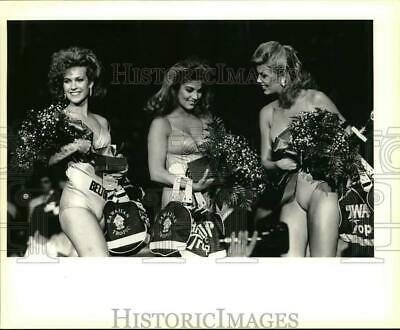 $12.88 • Buy 1986 Press Photo Miss Texas USA Entrants With Preliminary Pageant Awards