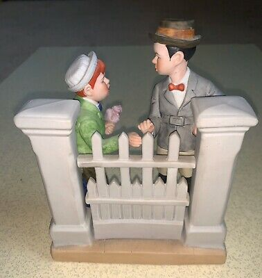 $ CDN3.83 • Buy The 12 Norman Rockwell Porcelain Figurines THE RIVALS 1980 Danbury Mint