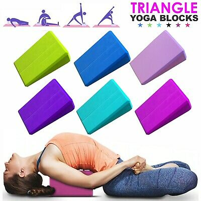 2PCS Yoga Bricks Pilates Foam Foaming Block Stretch Health Fitness  Gym Exercise • 6.49£