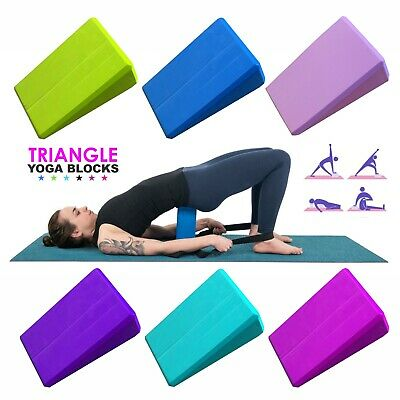 2x Foam Foaming Yoga Blocks Pilates Brick Stretch Health Bolster Fitness Exercis • 5.99£