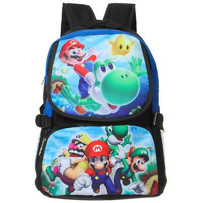 Super Mario School Student Bag Backpack Anime Shoulder Laptop Cartoon Rucksack • 10.99£